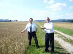 Besichtigung der Weizenernte